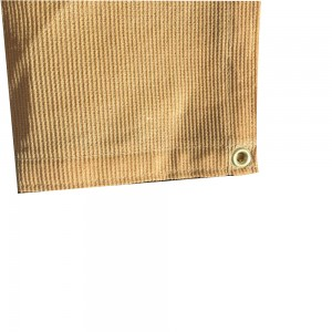 6 x 12  - Premium 90% Shade Cloth, Shade Sail, Sun Shade (Tan Color)