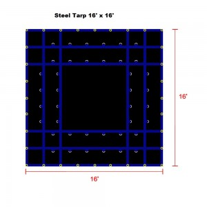 Purple*Blue 16 x 16 - Light Weight (15oz)  Truck Tarp, Steel Tarp