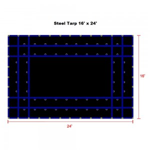 16 x 24- Heavy Duty (18oz)  Truck Tarp, Steel Tarp