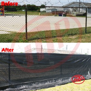 6 x 20  - Premium Privacy Fence Screen 90% Blackage (Black Color)