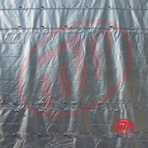 Black 14 x 20 - Light Weight (15oz)  Truck Tarp, Steel Tarp