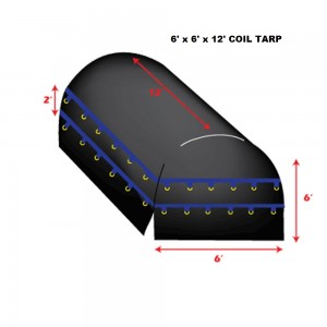 Purple*Blue 6 X 6 X 12 - Light Weight (15oz)  Truck Tarp, Coil Tarp