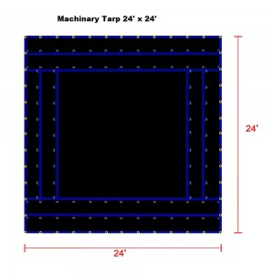 24 x 24 - Heavy Duty (18oz)  Truck Tarp, Machinery Tarp