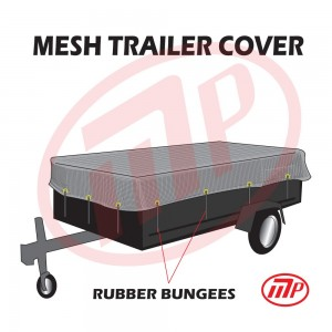 "6 x 12 - Utility Trailer Mesh Tarp with 10 pcs 9"" Rubber Bungee"