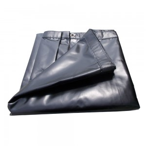 "Xtarps -  6 x 14 - 18oz Heavy Duty WaterProof Vinyl Trailer Tarp with 10 pcs 9"" Rubber Bungee"